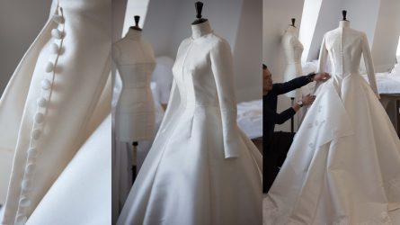 Váy cưới của Miranda Kerr đã được làm bằng tay công phu như thế nào?