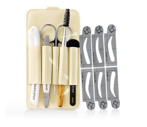 Bộ dụng cụ tỉa lông mày Innisfree Eco Beauty Tool Self Eyebrown Kit với sự thiết kế chuyên dụng giúp bạn dễ dàng tỉa tót đôi lông mày theo ý thích
