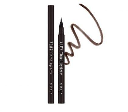 Bút nước vẽ lông mày Missha Seven Days Tinted Eyebrow (Sepia Brown) giúp cho đôi lông mày được giữ màu suốt 7 ngày liền.