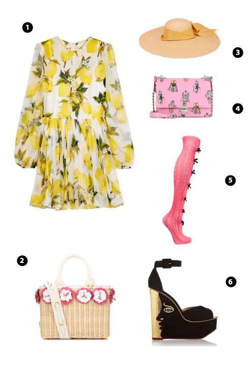 Dolce & Gabbana/ Prada/ Sensi Studio/ Prada/ Gucci/ Charlotte Olympia
