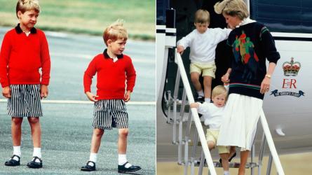6 bộ trang phục ngộ nghĩnh Công nương Diana từng diện cho William và Harry