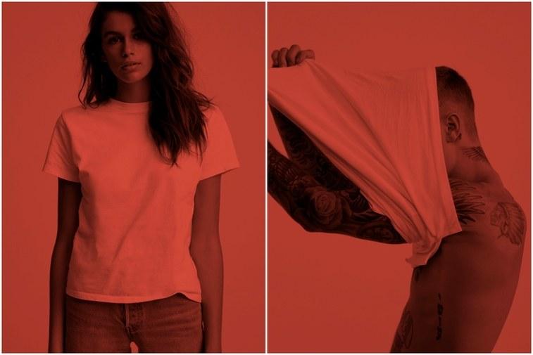 Người mẫu Joan Smalls và Kaia Gerber đồng hành cùng Justin trong chiến dịch