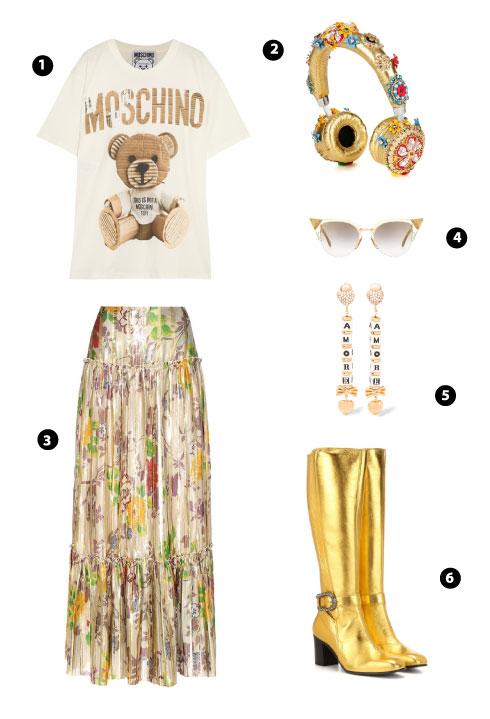 Moschino/ Dolce & Gabbana/ Etro/ Fendi/ Dolce & Gabbana/ Gucci