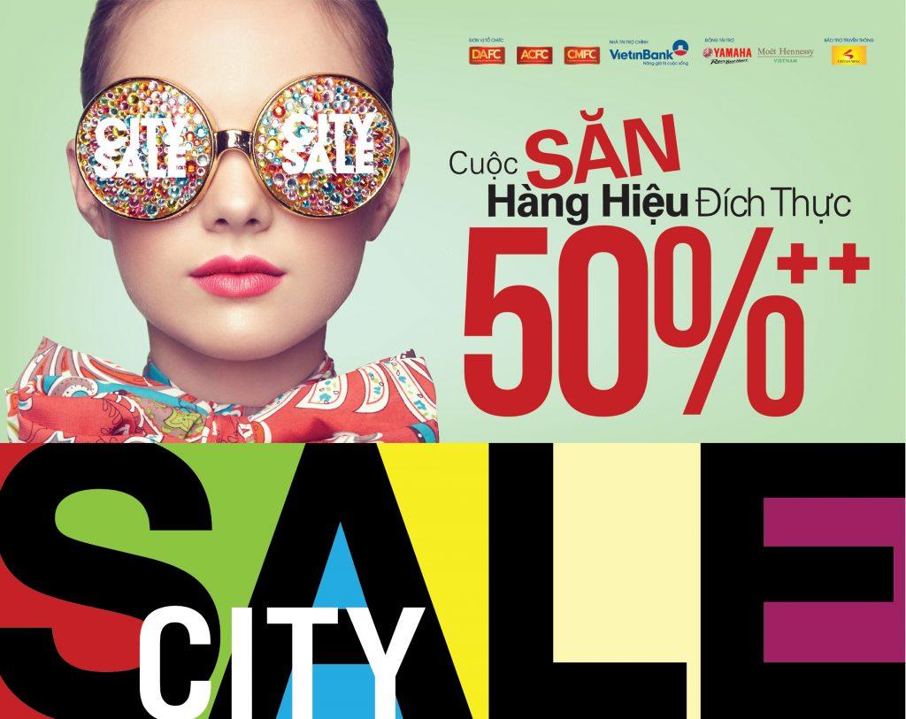 """""""Đại chiến"""" hàng hiệu giảm giá """"đụng nóc"""" 80% tại City Sale – City Hunt 2017"""