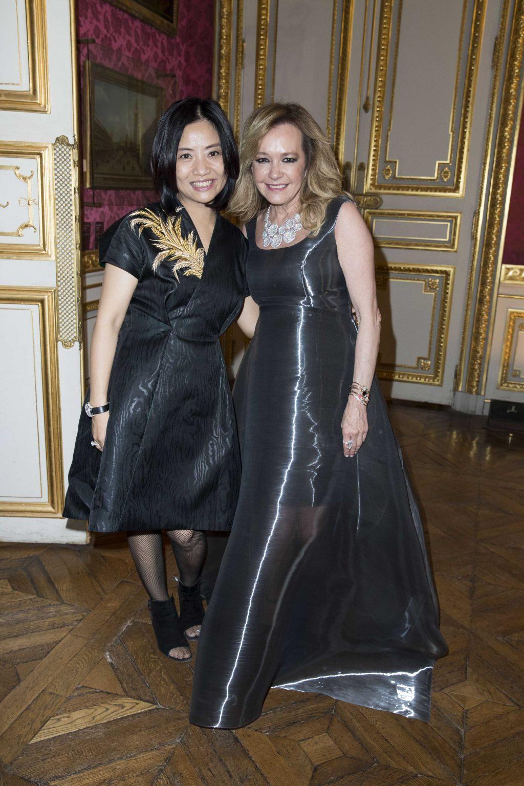 Giám đốc Sáng tạo Caroline Scheufele và nhà thiết kế Gou Pei