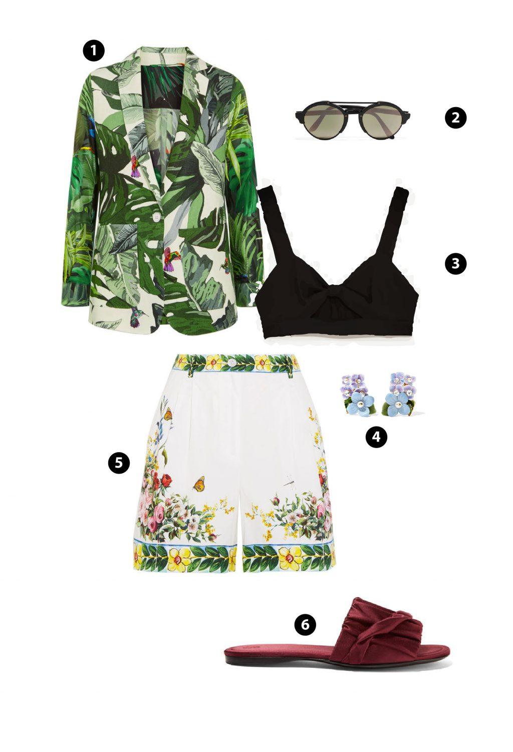 Blazer + Bermuda short - Công thức phối đồ sành điệu cho mùa hè - ELLE VN