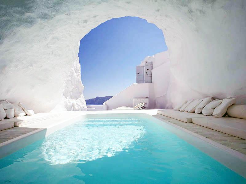 Hồ bơi ở khách sạn Katikies, Hy Lạp