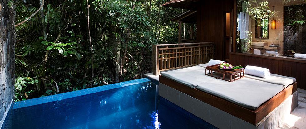 Kiến trúc của The Datai được thiết kế theo phong cách rừng nhiệt đới tạo cảm giác gần gũi với thiên nhiên.