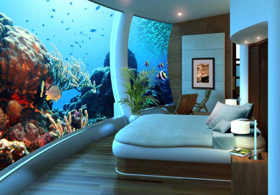 Poseidon Undersea Resort là khu nghỉ dưỡng đầu tiên trên thế giới nằm dưới đáy biển thuộc đảo Fiji với độ sâu 12m.