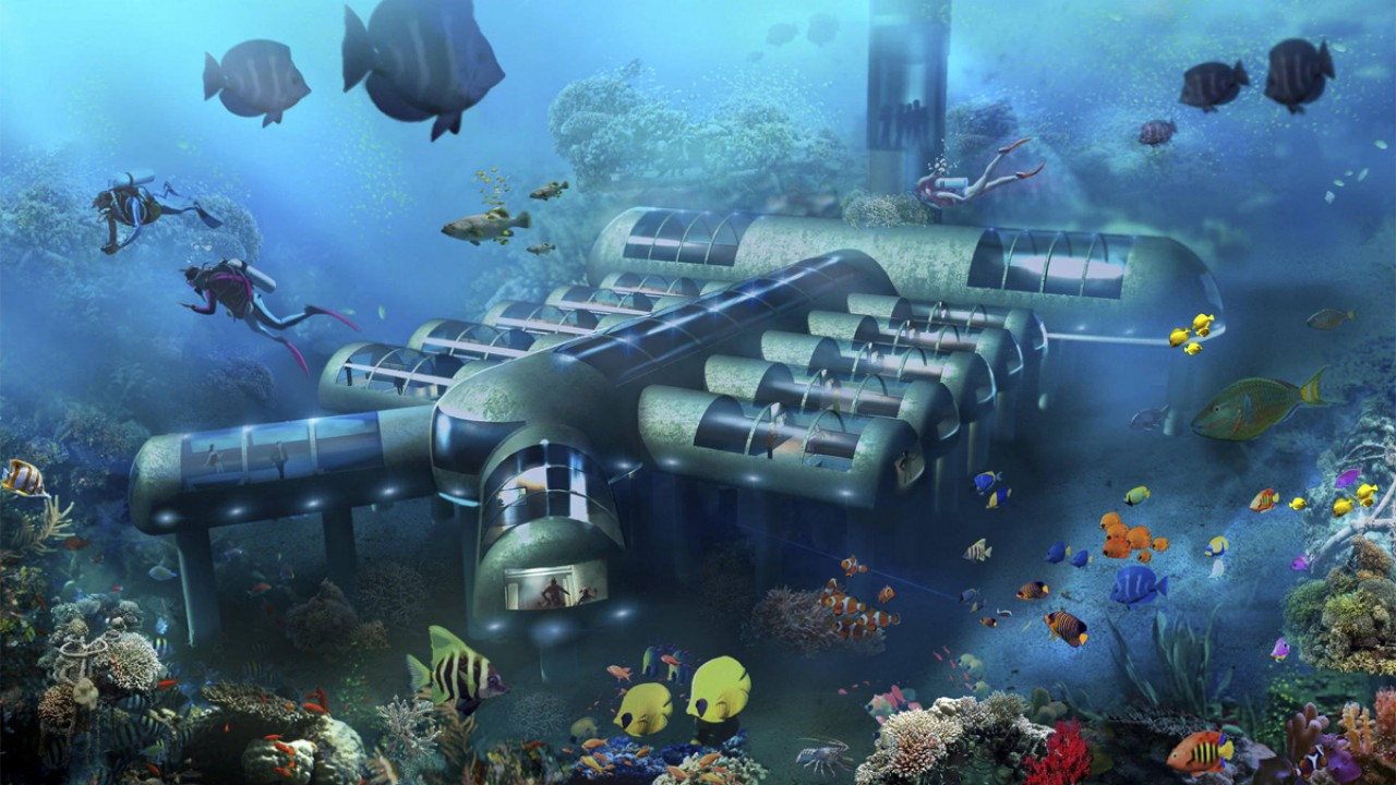 Toàn cảnh công trình xây dựng của khu nghỉ dưỡng Poseidon.