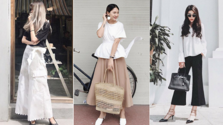 Thời trang tông trắng-đen độc chiếm street style sao Việt nửa đầu tháng 8