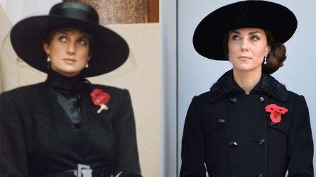Kate Middleton kế thừa phong cách thời trang của Công nương Diana