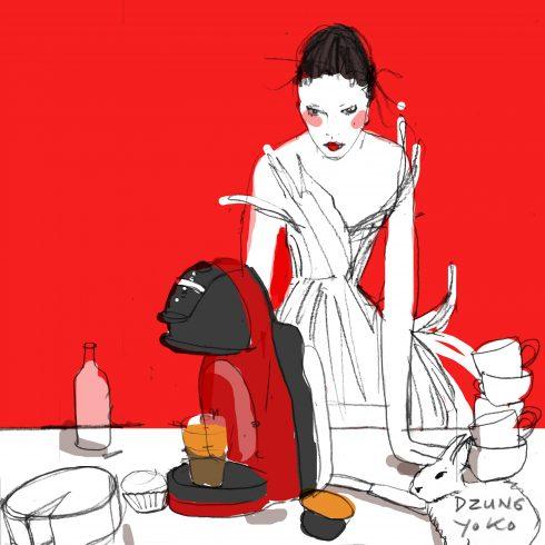 Bản sketch cô gái thanh lịch cả Dzũng Yoko