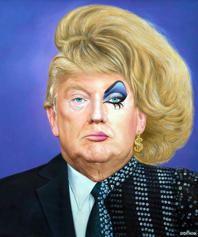 Khi Trumps là Drag Queen (Ảnh: Saint Hoax)