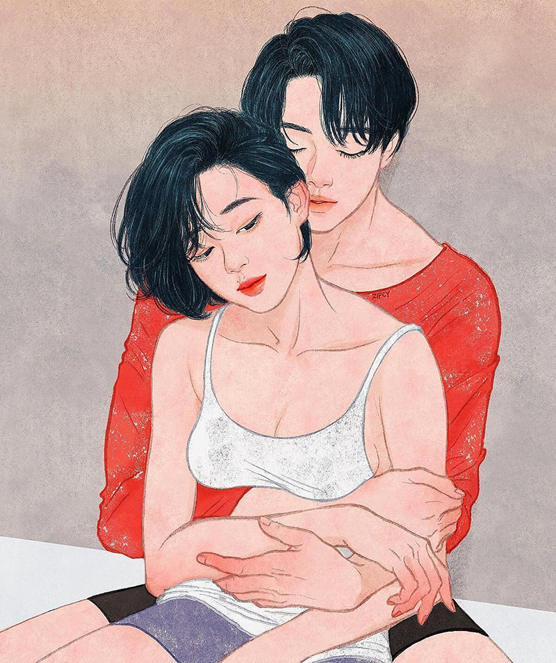 Couple Portrait (Ảnh: Zipcy - Korean Artist)