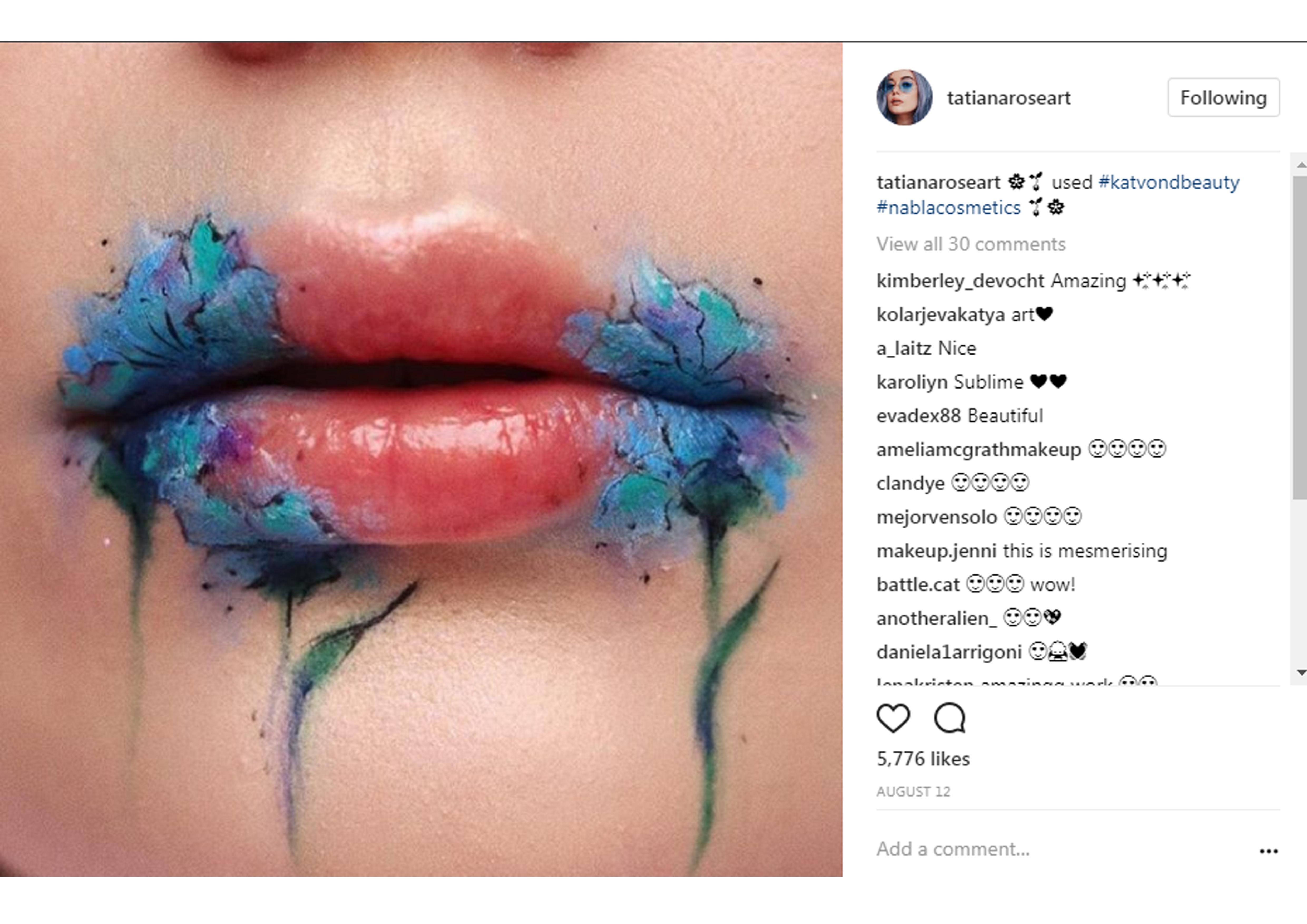 Instaglam - ngẫu hứng sáng tạo trong nghệ thuật trang điểm
