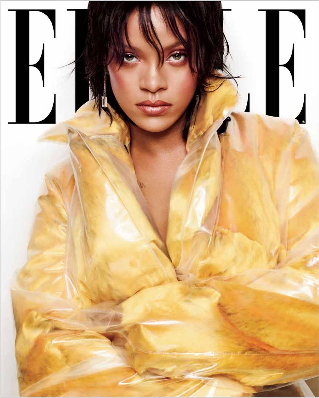 Rihanna đẹp mê hồn trên bìa tạp chí ELLE tháng 10