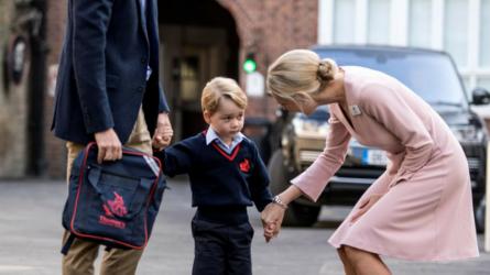 Ngày đầu tiên đi học của Hoàng tử bé George