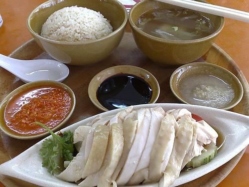 Cơm gà, Singapore