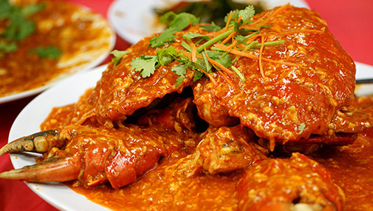 Cua sốt ớt, Singapore