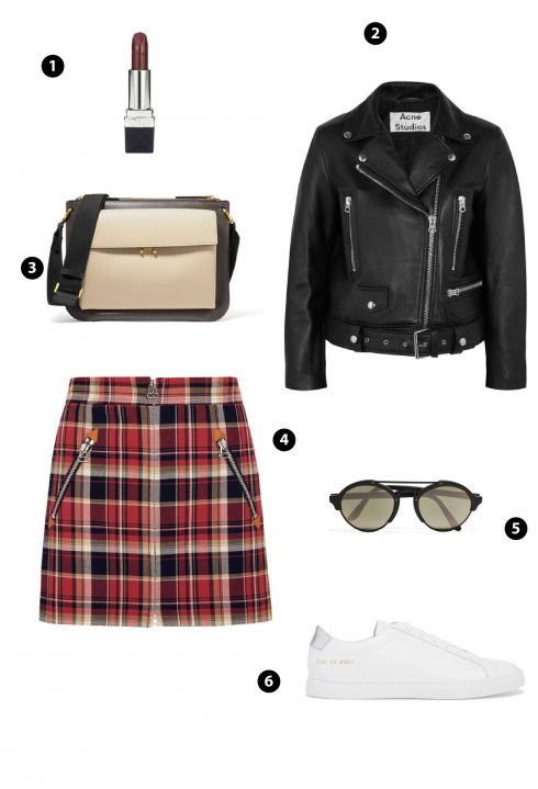 1. Chanel 2. ACNE Studio 3. Marni 4. Off-white 5. Topshop 6. Zara