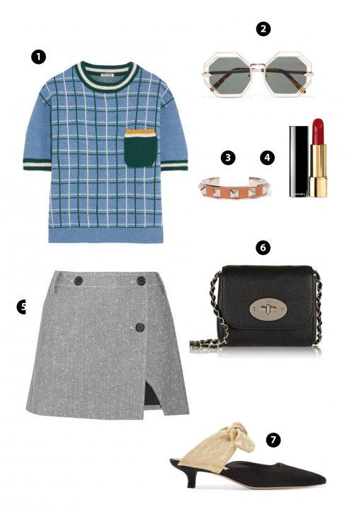 1. Miu Miu 2. Topshop 3. Givenchy 4.Dior 5.Zara 6. Prada 7. Topshop