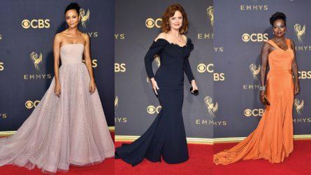 Thảm đỏ Emmys 2017 bừng sáng với hàng loạt bộ cánh lộng lẫy