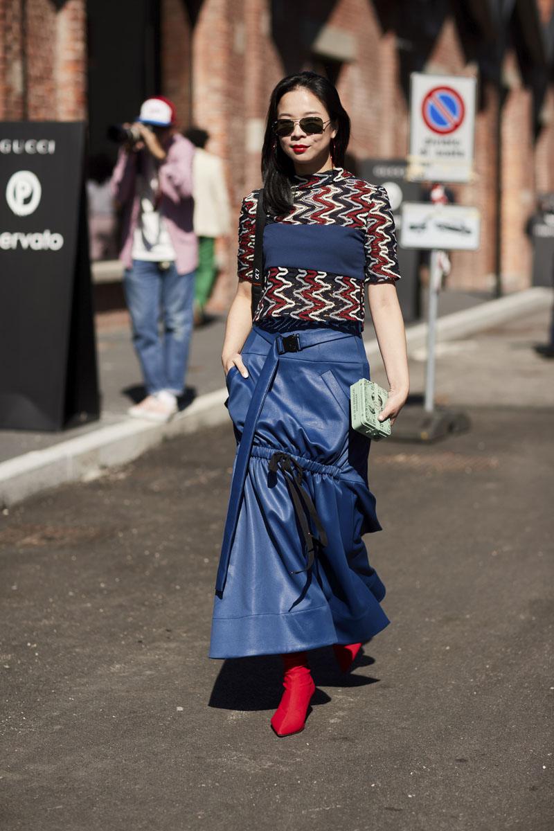 Gucci Tr N Ng P Street Style Milan Fashion Week Xu N H