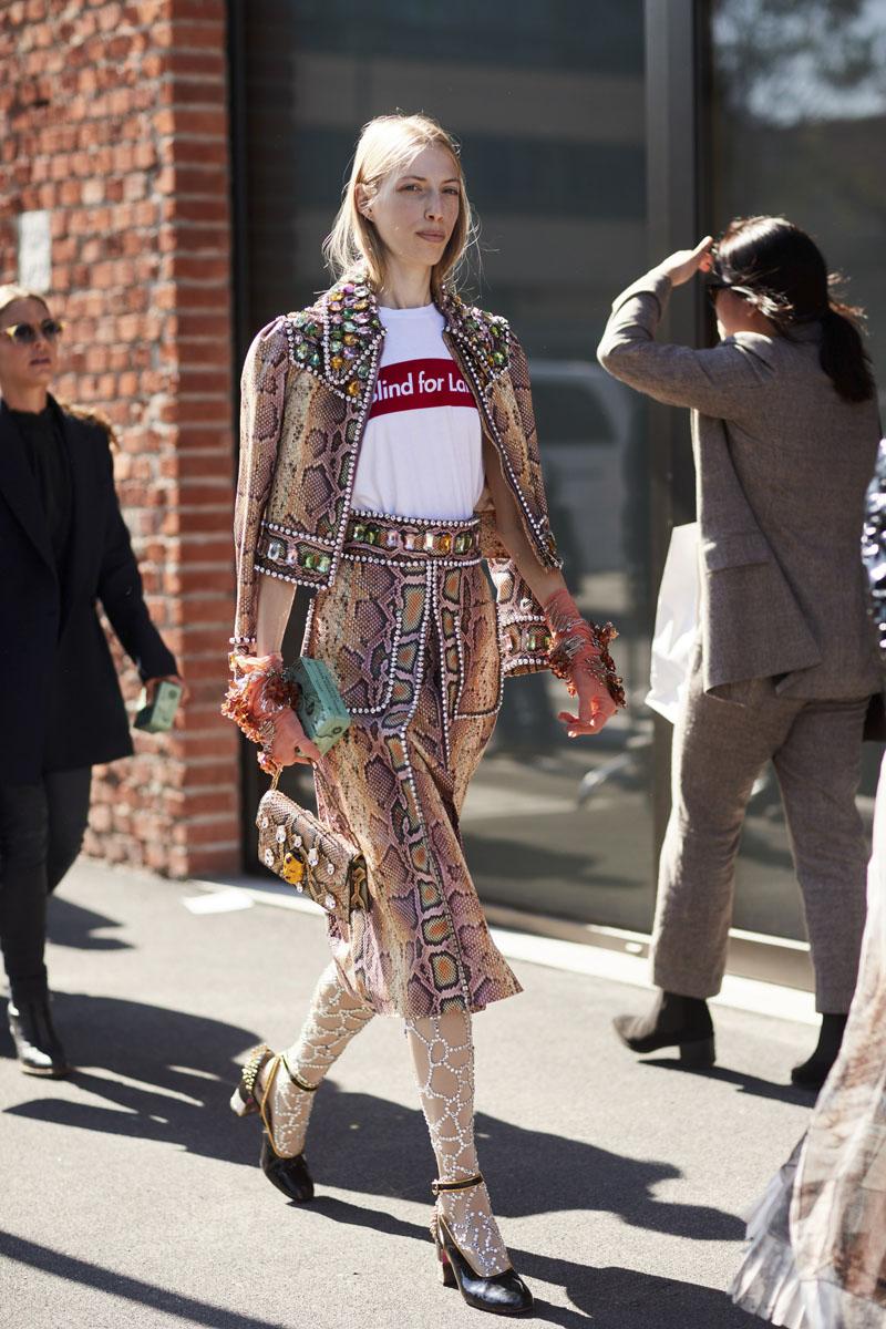 Gucci tràn ngập street style ở Milan Fashion Week Xuân – Hè 2018