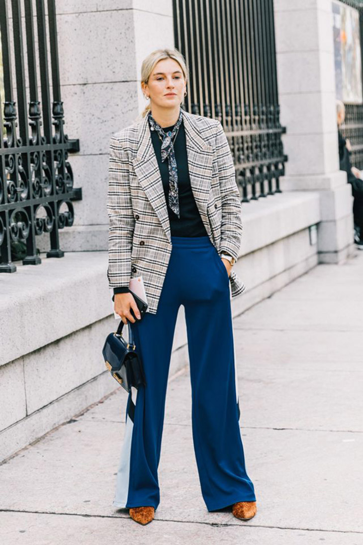 9 cách phối blazer kẻ ô đang khuynh đảo giới mộ điệu thời trang New York