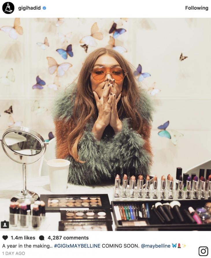 Gigi Hadid bắt tay với Maybelline ra mắt dòng mỹ phẩm mới - ELLE VN