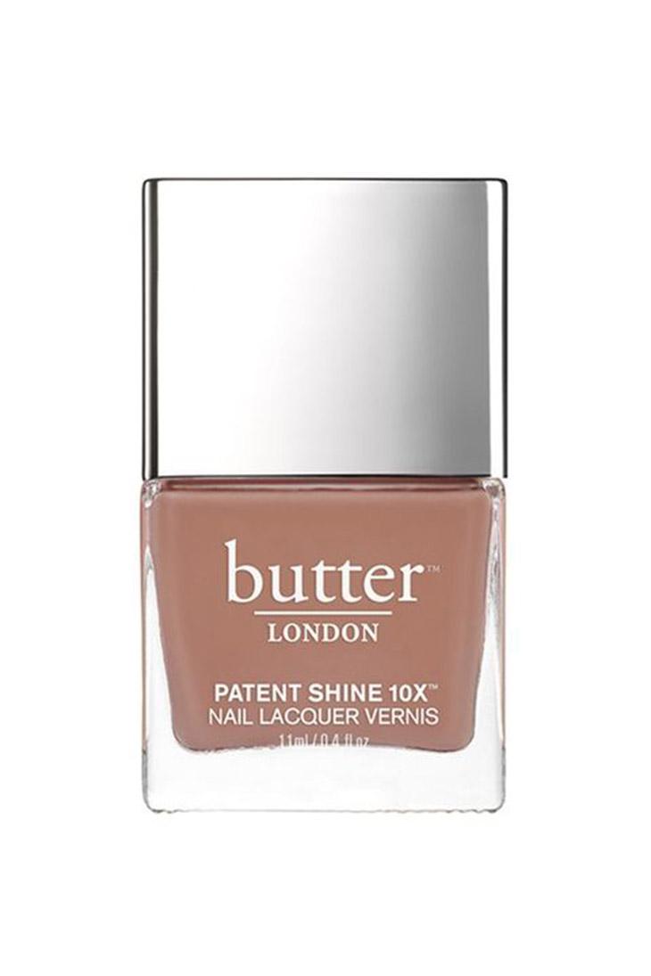 Butter Patent Shine Nail Lacquer màu Tea Time ($18)