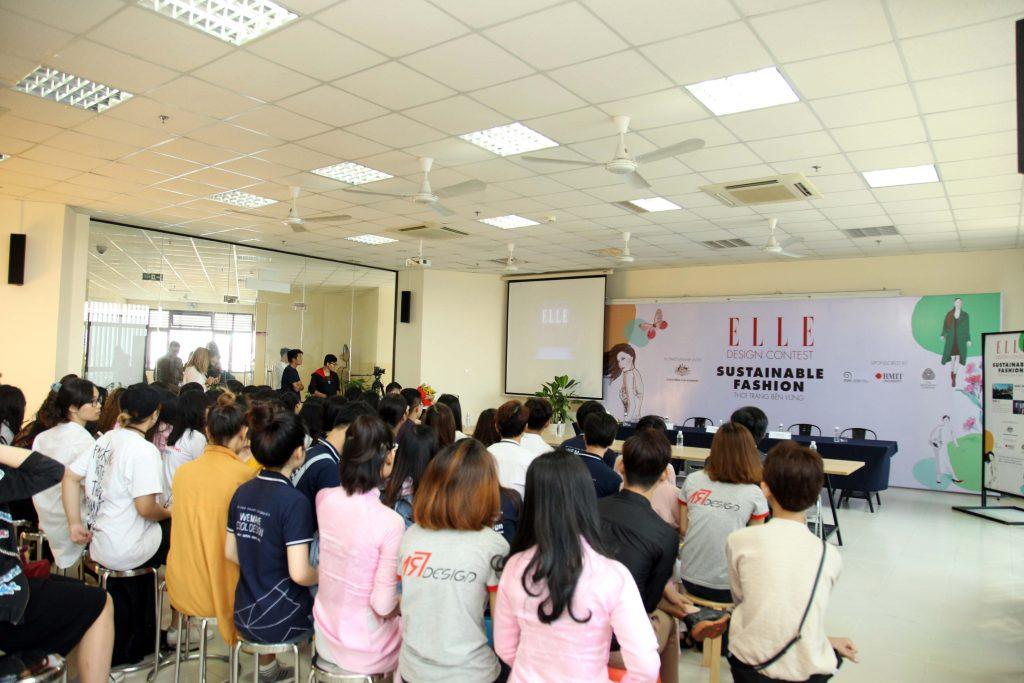 Toàn cảnh buổi giao lưu của cuộc thi ELLE Design Contest