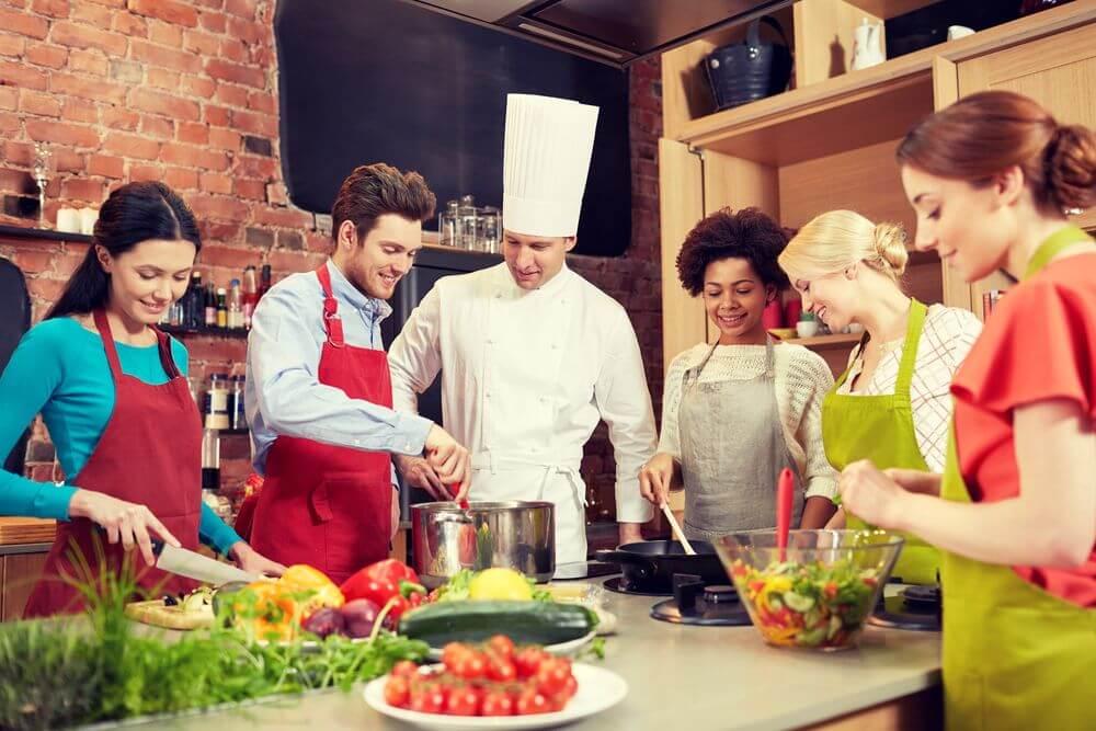 lớp học nấu ăn ở Ý