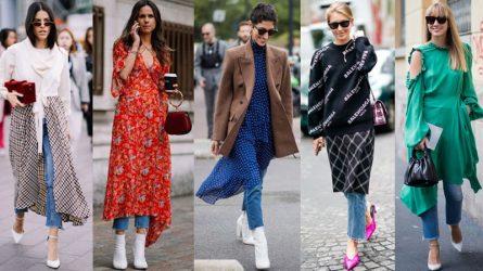 10 cách mix match cho Xuân-Hè 2018 với jeans và váy dài