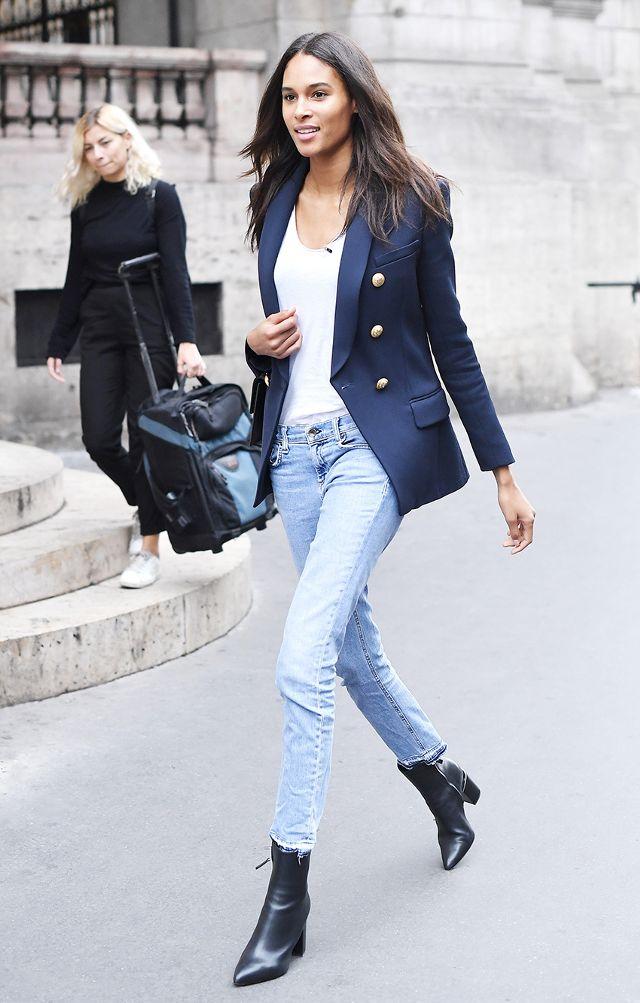 cách phối đồ cực chất với quần jean skinny