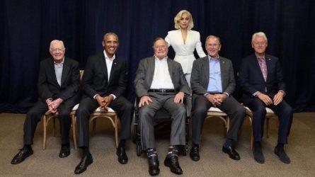 Lady Gaga xuất hiện cùng 5 cựu Tổng thống Hoa Kỳ trên sân khấu từ thiện