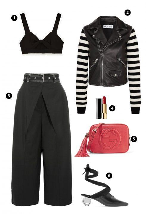 1. Topshop 2. Jacket Loewe 3. PROENZA SCHOULER 4. Chanel 5. Gucci 6.JW ANDERSON