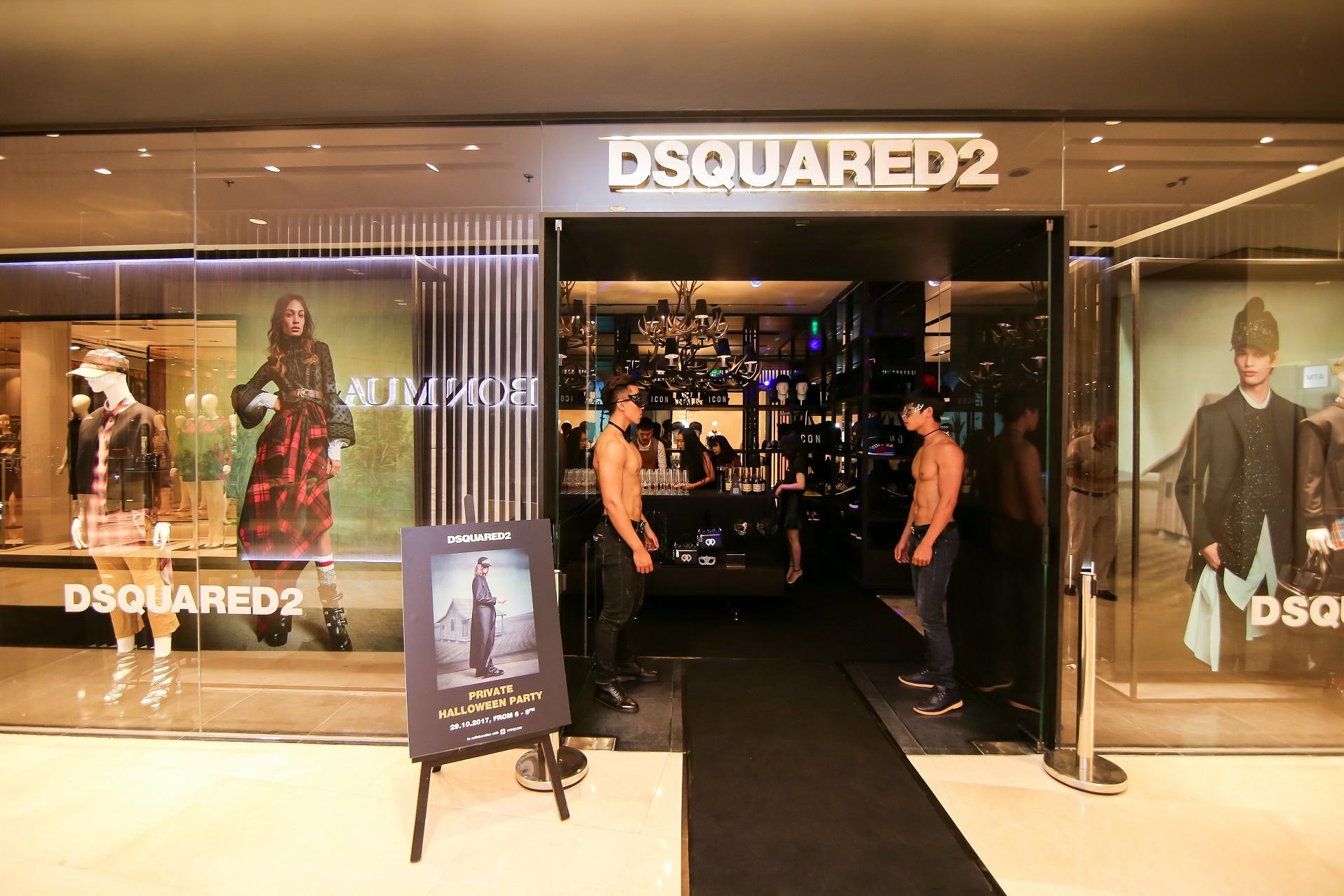 Dsquared2 tổ chức tiệc Halloween ấn tượng tại cửa hàng Saigon Centre