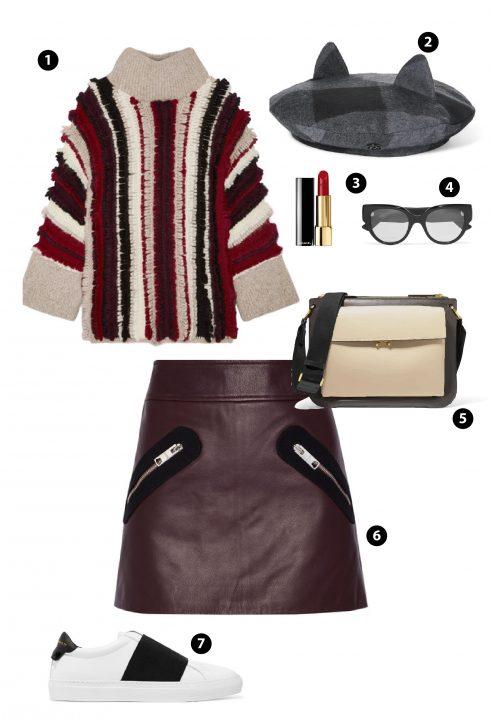 1. ELEVEN SIX 2. Nón MAISON MICHEL 3. Chanel 4. Gucci 6.Chân váy VERSUS VERSACE 7. Givenchy