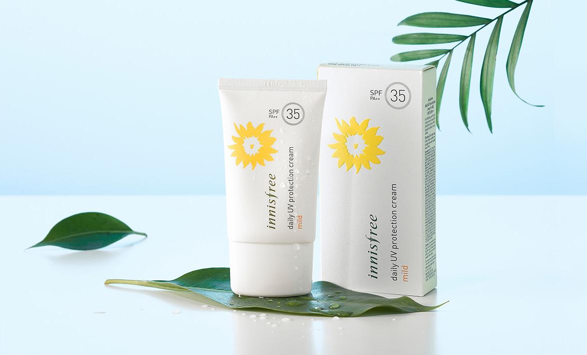 Innisfree tinh ý mang đến nhiều dòng chống nắng khác nhau phù hợp với từng loại da của người sử dụng.