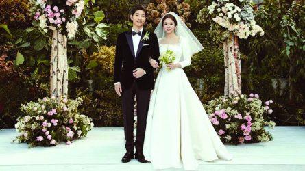 Cận cảnh quá trình làm nên chiếc đầm cưới Dior của Song Hye Kyo