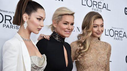 Bella Hadid chung vui cùng chị gái Gigi khi được nhận giải thưởng