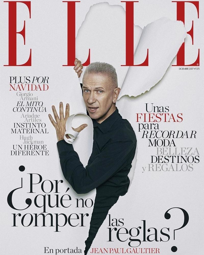 NTK kì cựu Jean Paul Gaultier xuất hiện trên bìa ELLE Tây Ban Nha