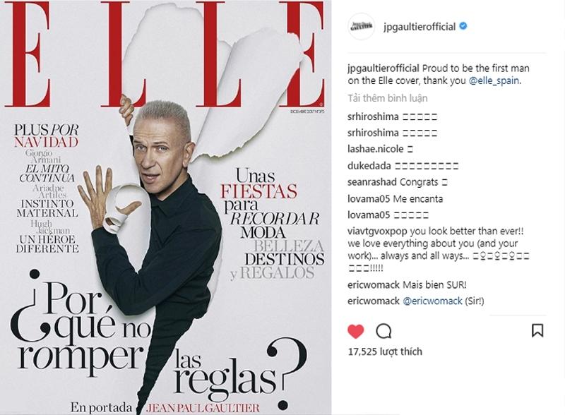 NTK kì cựu Jean Paul Gaultier xuất hiện trên bìa ELLE Tây Ban Nha tháng 12