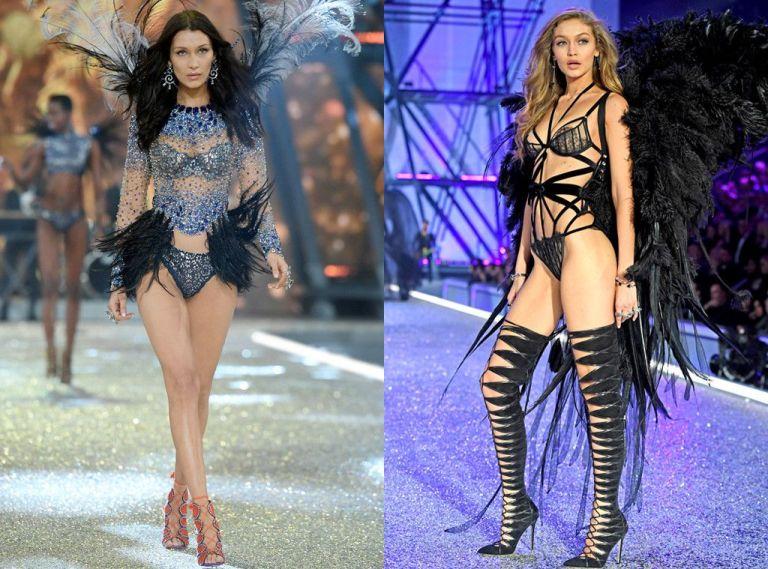 Gigi Hadid ủng hộ em gái Bella Hadid sải bước trong show Victoria's Secret Fashion 2017