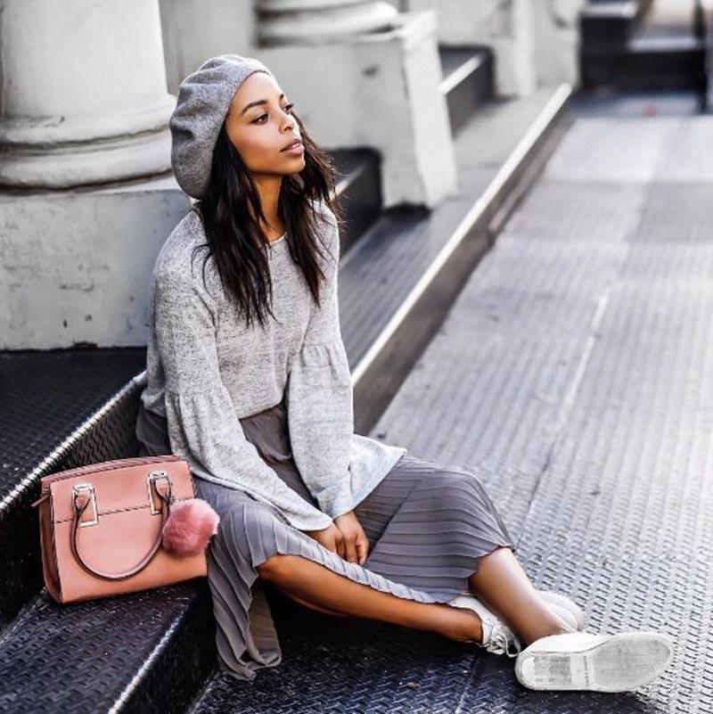 Học hỏi những hot girl Instagram xu hướng thời trang mũ nồi beret