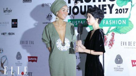 Người mẫu Bằng Lăng trở lại sàn diễn thời trang tại ELLE Fashion Show 2017