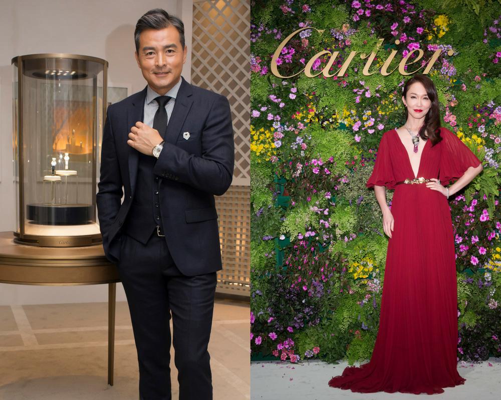 Vợ chồng Phạm Văn Phương & Lý Minh Thuận tham dự lễ khai trương cửa hàng Cartier tại TPHCM