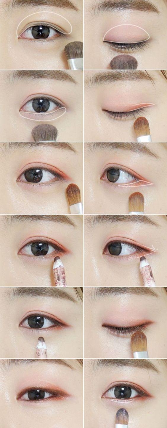 trang điểm mắt tự nhiên như người Hàn